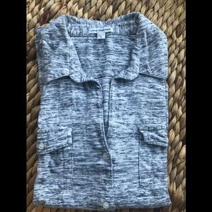 Standard James Perse Gray Buttoned Top